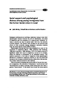 Social support and psychological distress among ... - SAGE Journals