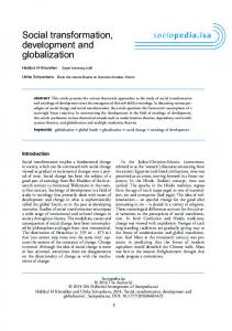 Social transformation, development and globalization