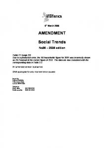 Social Trends 36 - Office for National Statistics