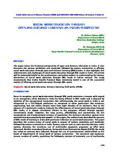 social work education through open and distance learning - tojde