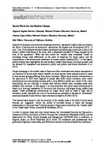 Social Work for the Middle Classes - Social Work & Society