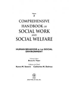 social work social welfare