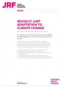 Socially just adaption to climate change - Climate Northern Ireland