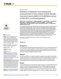 socio-behavioral characteristics in the context of DAA: Results ... - PLOS
