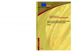 Socio-economic change, individual reactions ... - Cordis - Europa EU