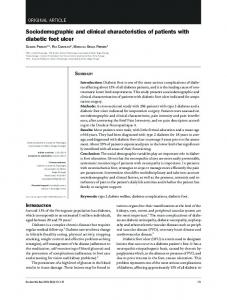 Sociodemographic and clinical characteristics of patients ... - SciELO