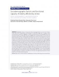 Sociodemographic factors and functional capacity