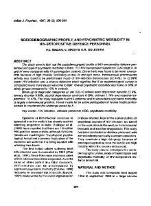 sociodemographic profile and psychiatric morbidity in ... - Europe PMC