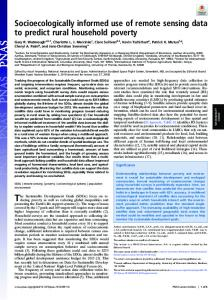 Socioecologically informed use of remote sensing data to ... - PNAS