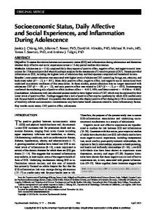 Socioeconomic Status, Daily Affective and Social ...