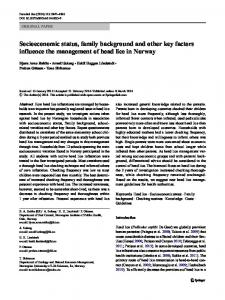 Socioeconomic status, family background and other key factors ...