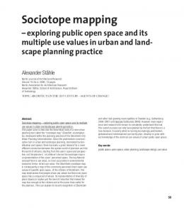 Sociotope mapping - Nordic Journal of Architectural Research