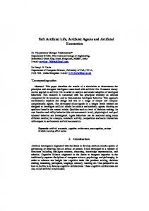 Soft Artificial Life, Artificial Agents and Artificial ...