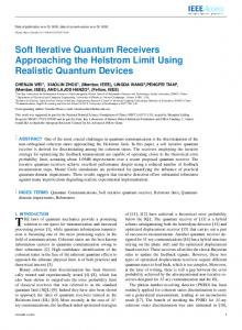 Soft Iterative Quantum Receivers Approaching the ... - ePrints Soton