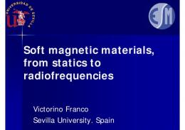 Soft magnetic materials, from statics to ... - Magnetism.eu
