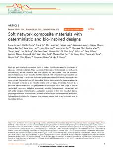 Soft network composite materials with deterministic and bio ... - Nature