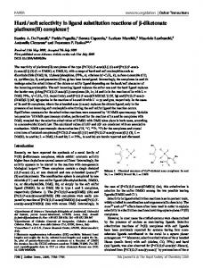 soft selectivity in ligand substitution reactions