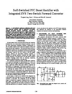 Soft-Switched PFC Boost Rectifier with Integrated ZVS