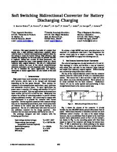 Soft Switching Bidirectional Converter for Battery