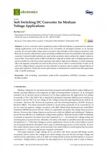Soft Switching DC Converter for Medium Voltage Applications - MDPI