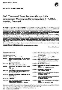 Soft Tissue and Bone Sarcoma Group, 25th