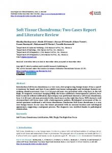 Soft Tissue Chondroma - Scientific Research Publishing