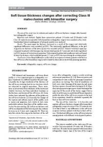 Soft tissue thickness changes after correcting ... - Semantic Scholar