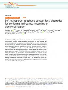 Soft transparent graphene contact lens electrodes for ... - Nature
