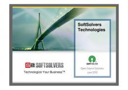 SoftSolvers OpenSource Solutions Presentation