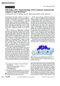 SoftSurface DNA Nanotechnology: DNA ... - Wiley Online Library