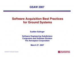 Software Acquisition Best Practices for Ground Systems