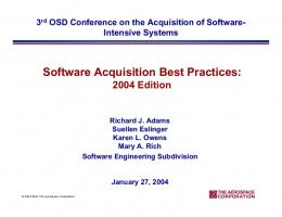 Software Acquisition Best Practices - Software Engineering Institute