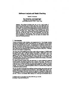 Software Analysis and Model Checking - Semantic Scholar