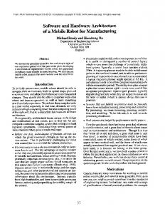 Software and Hardware Architecture of a Mobile ... - Semantic Scholar