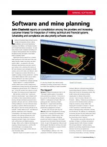 Software and mine planning