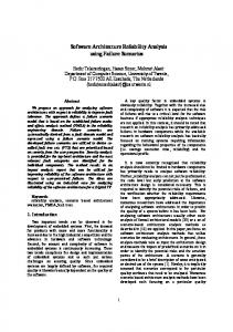 Software Architecture Reliability Analysis using ... - Semantic Scholar