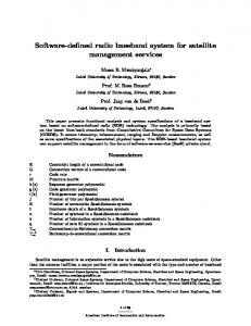 Software-defined radio baseband system for satellite ... https://www.researchgate.net/.../Software-defined-radio-baseband-for-satellite-manage...