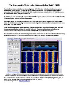 Software Defined Radios SDR