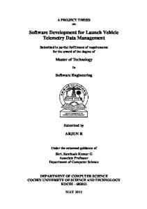 Software Development for Launch Vehicle Telemetry ...