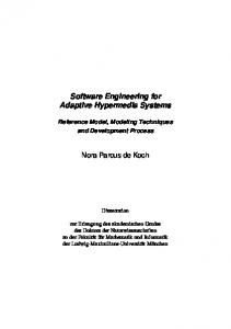 Software Engineering for Adaptive Hypermedia ... - LMU München