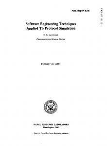 Software Engineering Techniques Applied To ... - Carl Landwehr