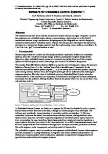 Software for Embedded Control Systems - Semantic Scholar