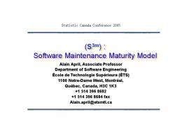 Software Maintenance Maturity Model - PublicationsList.org