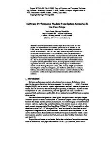 Software Performance Models from System ... - Semantic Scholar