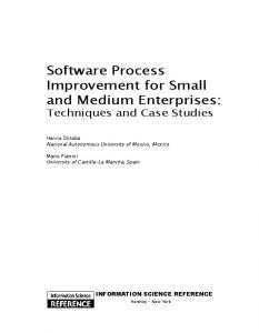 Software Process Improvement for Small and ...