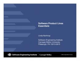 Software Product Lines Essentials - Software Engineering Institute