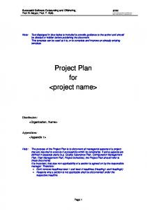 Software Project Plan Template - WordPress.com