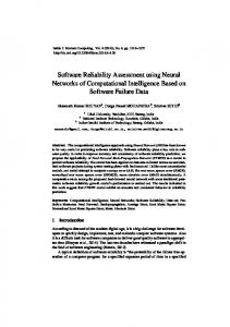 Software Reliability Assesment using Neural Networks of
