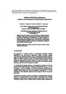 Software Reliability Assessment based on the ... - Semantic Scholar