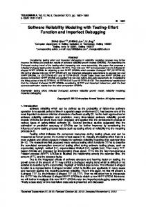 Software Reliability Modeling with Testing-Effort ... - Semantic Scholar